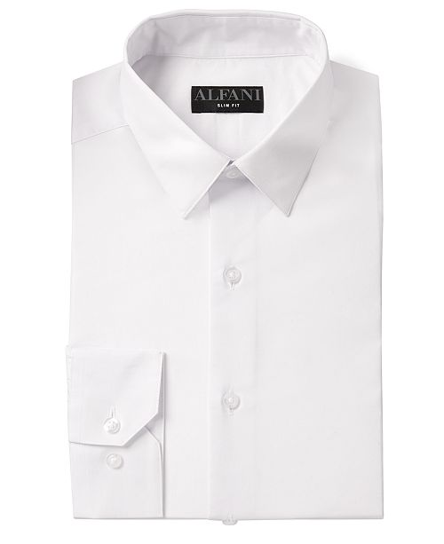 Alfani Alfani Men's AlfaTech Solid Dress Shirt, Created for Macy's