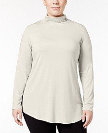 Plus Size Turtleneck Top, Created for Macy's