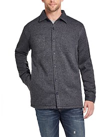 Weatherproof Vintage Men's Fleece Lined Shirt Jacket