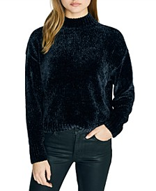 Chenille Mock-Neck Sweater