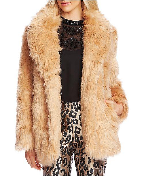 Vince Camuto Faux-Fur Shag Coat