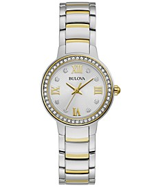 Women's Crystal Two-Tone Stainless Steel Bracelet Watch 28mm, Created For Macy's