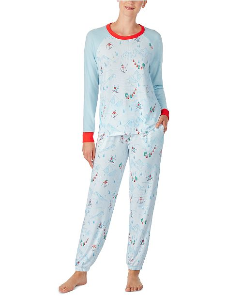 Cuddl Duds Printed Top & Bottoms Pajamas Set