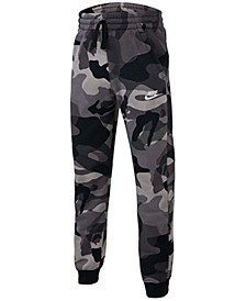 Big Boys Camo-Print Fleece Jogger Pants