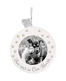 Precious Moments Fur-ever In Our Hearts Ceramic Pet Memorial Photo Ornament