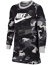 Big Boys Cotton Camo-Print Long-Sleeve T-Shirt