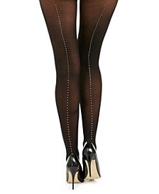 INC Women's Embellished-Seam Tights, Created For Macy's