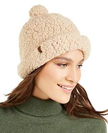 Knit Sherpa Fleece Shallow Beanie