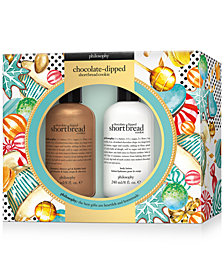 philosophy 2-Pc. Chocolate Dipped Shortbread Cookie Bath & Body Gift Set