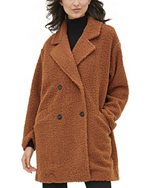 Sherpa Button-Front Coat