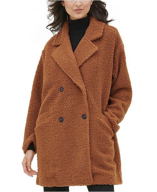 Calvin Klein Sherpa Button-Front Coat