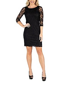 Women's Fitted Lace Mini Dress