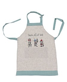 Animal's Fun Holiday Party Embroidered Apron