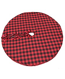 "Holiday Plaid Tree Skirt 56"" Round"