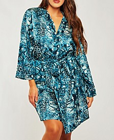 Plus Size Ultra Soft Print Wrap