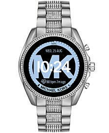 Michael Kors Access Bradshaw 2 Pavé Stainless Steel Bracelet Touchscreen Smart Watch 44mm