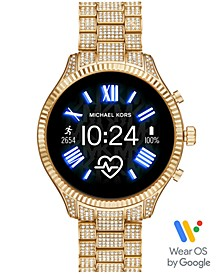 Access Lexington 2 Glitz Gold-Tone Stainless Steel Bracelet Touchscreen Smart Watch 44mm, Powered by Wear OS by Google™