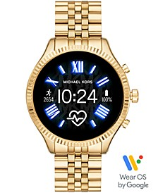 Access Lexington 2 Gold-Tone Stainless Steel Bracelet Touchscreen Smart Watch 44mm, Powered by Wear OS by Google™