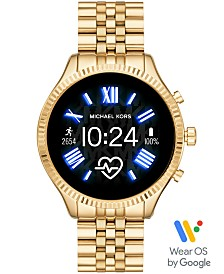 Michael Kors Access Lexington 2 Gold-Tone Stainless Steel Bracelet Touchscreen Smart Watch 44mm, Powered by Wear OS by Google™
