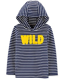 Toddler Boys Cotton Wild Hooded T-Shirt