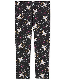 Toddler Girls Pegasus-Print Fleece Leggings