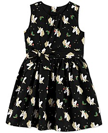 Toddler Girls Holly Unicorn-Print Dress