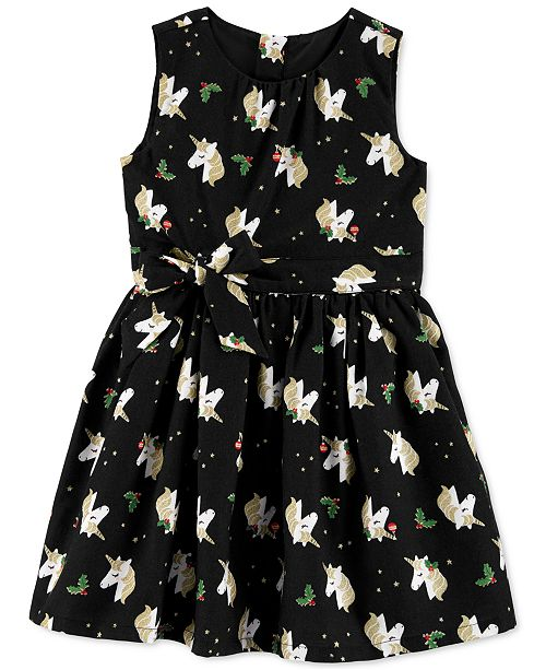 Carter's Toddler Girls Holly Unicorn-Print Dress