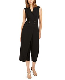 Cropped Overlay Jumpsuit