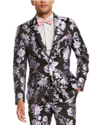 I.N.C. Men's Big & Tall Slim-Fit Floral Jacquard Blazer, Created For Macy's