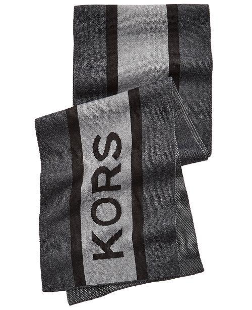 Michael Kors Men's Striped Logo Scarf