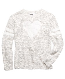 Big Girls Heart Stripes Sweater, Created For Macy's