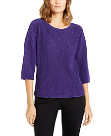 Metallic Ribbed-Knit Sweater, Created For Macy's