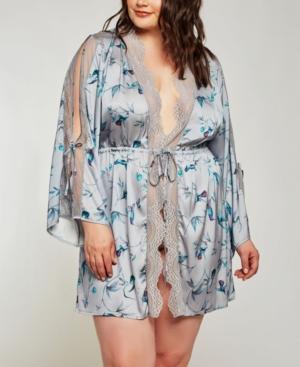 Plus Size Hummingbird Print Robe