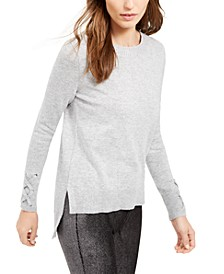 Tie-Sleeve Sweater, Regular & Petite Sizes, Created for Macy's