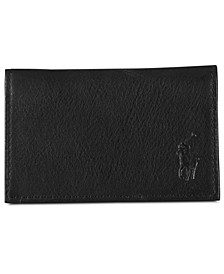 Men's Accessories, Pebbled Leather Slim ID Card Case