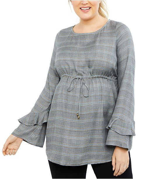 Motherhood Maternity Bell-Sleeve Top