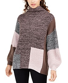 Juniors' Colorblocked Sweater, Created For Macy's