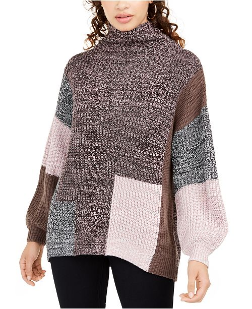 American Rag Juniors' Colorblocked Sweater, Created For Macy's
