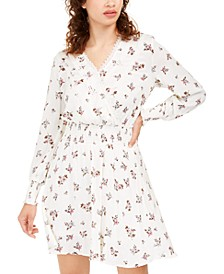 Juniors' Floral Faux Wrap Dress, Created For Macy's