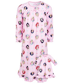 Big & Little Girls 2-Pc. Princess Print & Matching Doll Nightgowns