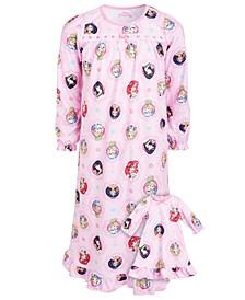 Big & Little Girls 2-Pc. Princess Print & Matching Doll Nightgowns