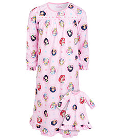 AME Big & Little Girls 2-Pc. Princess Print & Matching Doll Nightgowns