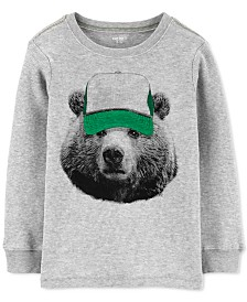 Carter's Little & Big Boys Bear-Print Thermal Cotton T-Shirt