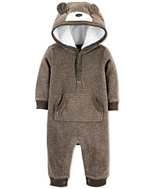 Baby Boys Bear Fleece Coverall