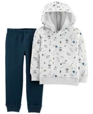 Baby Boys Adorable Fleece Lined Hooded Top /& Trouser Outfit My First Van Design