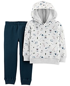 Baby Boys 2-Pc. Fleece Camping Hoodie & Jogger Pants Set