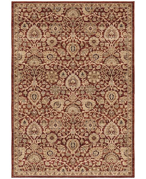 "Palmetto Living Aria Dover Rouge 6'5"" x 9'6"" Area Rug"