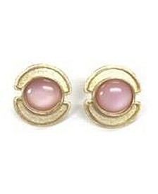 Stephanie Kantis Sheath Earrings in gold-plated and Rose Quartz