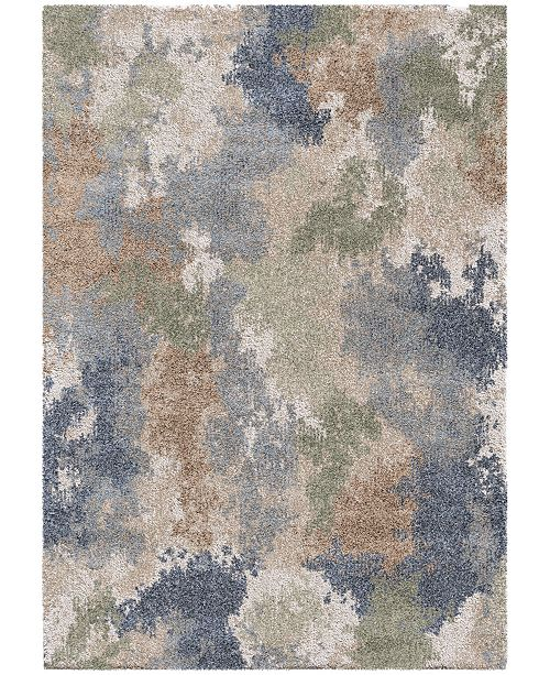 """Palmetto Living Mystical Dreamy Muted Blue 5'3"""" x 7'6"""" Area Rug"""