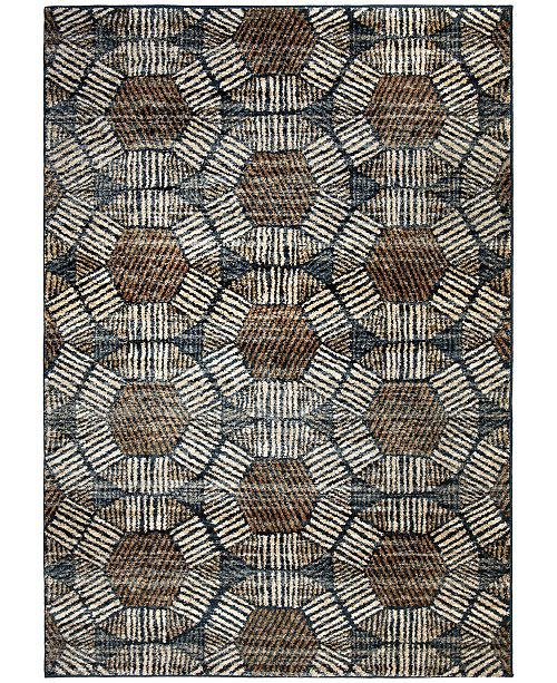 "Palmetto Living Adagio Textured Penny Blue 7'8"" x 10'10"" Area Rug"